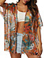 cheap Cover Ups-Women's Cover Up Swimsuit Floral Orange Swimwear Bathing Suits