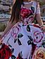 cheap Boho Dresses-Women's A Line Dress Maxi long Dress Red Short Sleeve Floral Print Floral Summer V Neck Casual Vintage Beach 2021 S M L XL