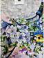 cheap Tees & T Shirts-Women's Floral Theme Painting T shirt Floral Bird Print Round Neck Basic Tops Blushing Pink Green White