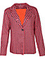 cheap Blazers-Women's Blazer Classic Style Striped Chic & Modern Long Sleeve Coat Daily Wear Fall Spring Regular Jacket Red / Shirt Collar / Slim