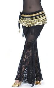 Danza del Vientre Pantalones y Faldas Mujer Entrenamiento Poliéster Encaje Cintura Media Pantalones