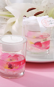 Beautiful Floral Candle Favor