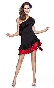 Latinamerikansk dans Outfits Dam Träning Viskos Krusad Kort ärm Naturlig / Latinodans