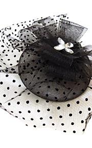 Cristal Strass Tissu Filet Diadèmes Fascinators 1 Mariage Occasion spéciale Fête / Soirée Casque