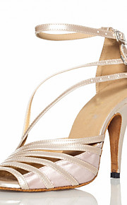 Dámské Boty na latinskoamerické tance / Boty na salsu PU kůže / Satén Sandály Přezky Na zakázku Obyčejné Taneční boty Šedá / Akt / Černá / EU41