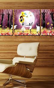 Impression sur Toile Ensembles de Toile Personnage Trois Panneaux Format Horizontal Imprimé Décoration murale For Décoration d'intérieur