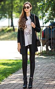 Damen - Solide Grundlegend Mantel überdimensional