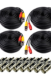 Kabels VideoSecu Video Power CCTV Security Camera Cable with BNC to RCA Adapter Connector voor veiligheid Systemen 4*5000cm 3.7kg