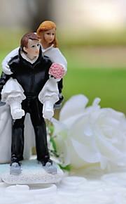 ケーキトッパー クラシックテーマ スポーツ 夫妻 樹脂 結婚式 〜と ギフトボックス