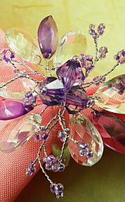 Set van 12 Graceful Floral AcrylParels Servetring, Dia4.2-4.5cm