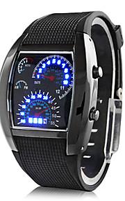 남성용 손목 시계 디지털 시계 디지털 고무 블랙 달력 창조적 디지털 다크 블루 브라운 밝은 블루 2 년 배터리 수명 / Panasonic CR2032
