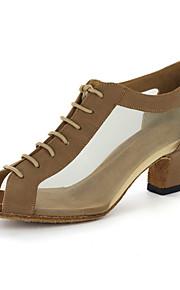 Naisten Moderni Tanssiaiset Tekonahka Sandaalit Paksu korko Musta Kulta Mahdollisuus räätälöidä