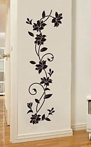 Romance Mode Botanique Stickers muraux Autocollants avion Autocollants muraux décoratifs, Vinyle Décoration d'intérieur Calque Mural Mur