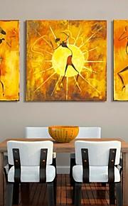 Impression sur Toile Ensembles de Toile Abstrait Personnage Trois Panneaux Format Vertical Imprimé Décoration murale Décoration
