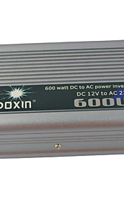Carking™ Universal Zinc Alloy 600W DC 12V to AC 220V Power Inverter with Car - Silver