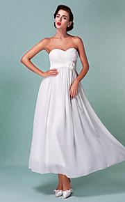 d8bd6d6dc782 Pouzdrové Srdcový výstřih Po kotníky Šifón Svatební šaty vyrobené na míru s  Šerpa   Stuha