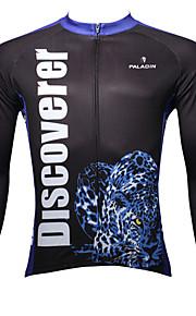 ILPALADINO Homme Manches Longues Maillot de Cyclisme Animal Vélo Maillot, Garder au chaud, Séchage rapide, Résistant aux ultraviolets
