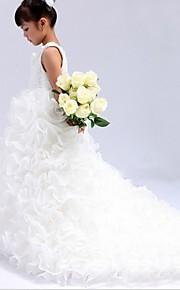 Báli ruha Katedrális uszály Virágoslány ruha - Organza Ujjatlan Ékszer val vel Gyöngydíszítés által LAN TING Express