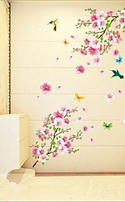 Tiere Stillleben Romantik Mode Botanisch Wand-Sticker Flugzeug-Wand Sticker Dekorative Wand Sticker, Vinyl Haus Dekoration Wandtattoo Wand