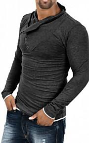 Ανδρικά T-shirt Δουλειά Κλασσικό & Διαχρονικό Μονόχρωμο Αγνό Χρώμα Μαύρο L / Μακρυμάνικο