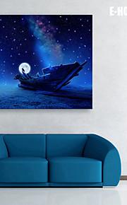 Toile Tendue LED Paysage Un Panneau Carré Imprimé Décoration murale Décoration d'intérieur