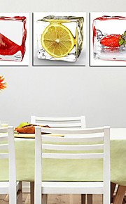 Stretched Canvas Print Still Life Photographic Three Panels Square Wall Decor Home Decoration