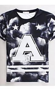 Ανδρικά T-shirt Καθημερινό/Γραφείο/Αθλητικό Κοντομάνικο