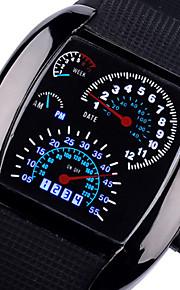 남성용 손목 시계 석영 실리콘 블랙 / 브라운 멋진 아날로그 블랙 브라운 2 년 배터리 수명 / Panasonic CR2016