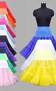Bröllop Speciellt Tillfälle Fest / afton Dagligen Underklänningar Polyester Organza Tyll Lycra Knälång Balklänning Underkjol Klassisk &