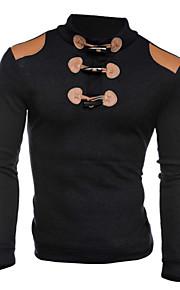 Bărbați De Bază Zvelt Pantaloni - Mată Negru / Manșon Lung / Primăvară / Toamnă