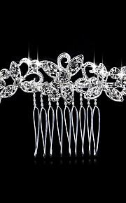 Pärla Kristall Bergkristall Legering Hair Combs 1 Bröllop Speciellt Tillfälle Casual Hårbonad