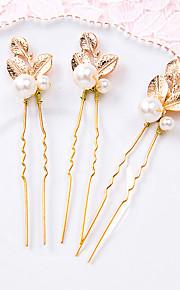 Napodobenina perel Slitina Sponka do vlasů 1 Svatební Zvláštní příležitosti Přílba