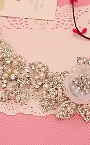 Tule Imitatieparel Strass hikinauhat 1 Bruiloft Speciale gelegenheden  Helm