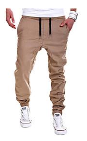 Erkek Pamuklu Düz / Eşoğman Altı Pantolon - Solid Siyah / Bahar / Sonbahar