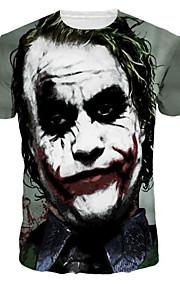 Ανδρικά T-shirt Πανκ & Γκόθικ Πορτραίτο Στρογγυλή Λαιμόκοψη Λεπτό Στάμπα Γκρίζο L / Κοντομάνικο / Καλοκαίρι