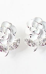 Damen Tropfen-Ohrringe - bezaubernd Schwarz Purpur Gelb Rosa Hellblau Blume Ohrringe Für Hochzeit Party Alltag Normal