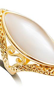Damen Bandring - Prinzessin Klassisch Modisch Golden Ring Für Hochzeit Party / Abend