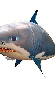 RC 상어 원격 조정 동물모형 플라잉 상어 흰 동가리 공기주입식 현실적인 운동 에어 스윔 머 나일론 1 pcs 남여 공용 장난감 선물 / CE