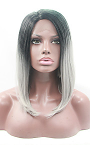 Synthetic Lace Front Wig Straight Bob Haircut Middle Part Bob Women's Lace Front Natural Wigs Synthetic Hair
