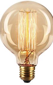 Ecolight™ 1pc 40W E27 E26 / E27 G80 Varm hvid 2300k Glødende Vintage Edison lyspære 220-240V