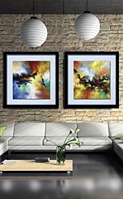 Peinture à l'huile Hang-peint Peint à la main - Abstrait Classique Toile