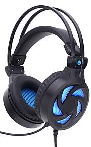 SY855MV Over Oor Hoofdband Bekabeld Hoofdtelefoons Gebalanceerde Armatuur Muovi Gaming koptelefoon Met volumeregeling met microfoon