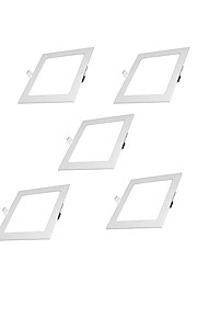 5pcs LEDs Χωνευτό LED Χωνευτό Σποτ Θερμό Λευκό Ψυχρό Λευκό Φυσικό Λευκό 100-240V Γκαράζ Αποθήκη Διάδρομος/Σκάλες Κρεβατοκάμαρα