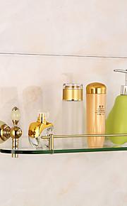 Jogo de Acessórios para Banheiro Prateleira de Banheiro Vidro Ti-PVD Montagem de Parede