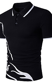 男性用 スポーツ - プリント Polo 活発的 シャツカラー スリム 幾何学模様 コットン / 半袖