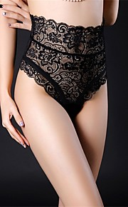 Women's Ultra Sexy Panties - Lace, Solid Colored Low Waist