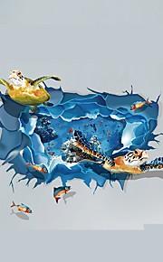 Dyr Tegneserie 3D Vægklistermærker Fly vægklistermærker 3D mur klistermærker Dekorative Mur Klistermærker Bryllups klistermærker, Papir