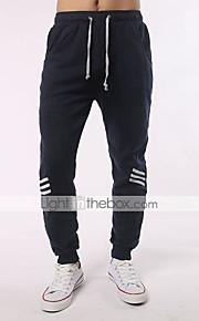 男性用 ストリートファッション プラスサイズ コットン スリム / Jogger / リラックス パンツ - カラーブロック ダックグレー / スポーツ