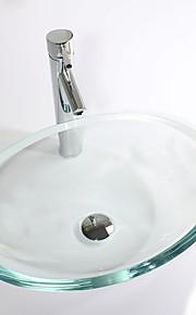 Moderno Rettangolare Materiale del dissipatore è Vetrotemperato Lavandino bagno