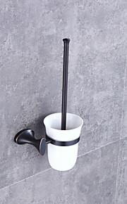 Toalettbørsteholder Høy kvalitet Moderne / Nutidig Metall 1 stk - Hotell bad Vægmonteret